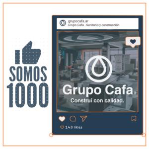 ¡Somos +1000 en Instagram!